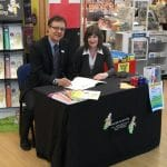 Sue Smits and Simon Nettle at WHSmith store June 2015