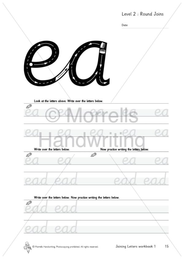 Morrells Joining Morrells Letters workbook 1 inside ea