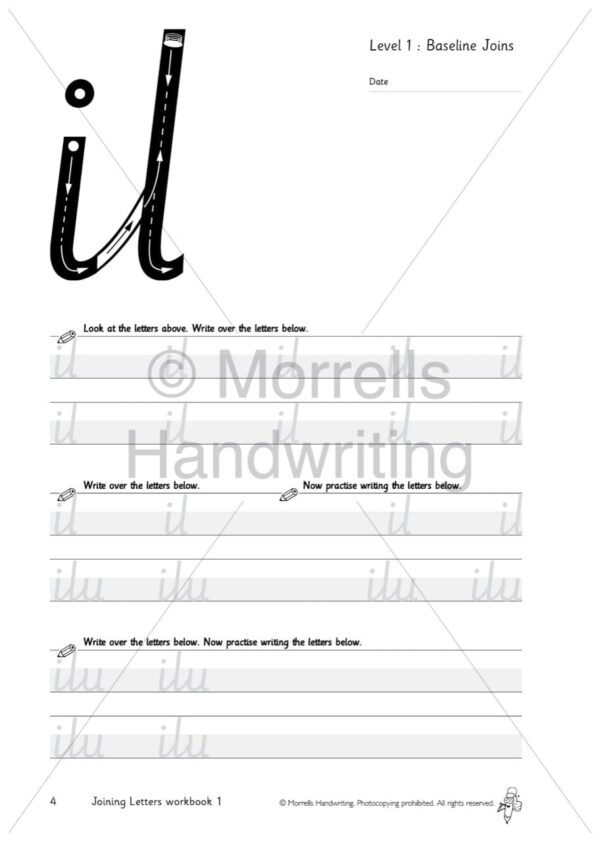 Morrells Joining Morrells Letters workbook 1 inside il