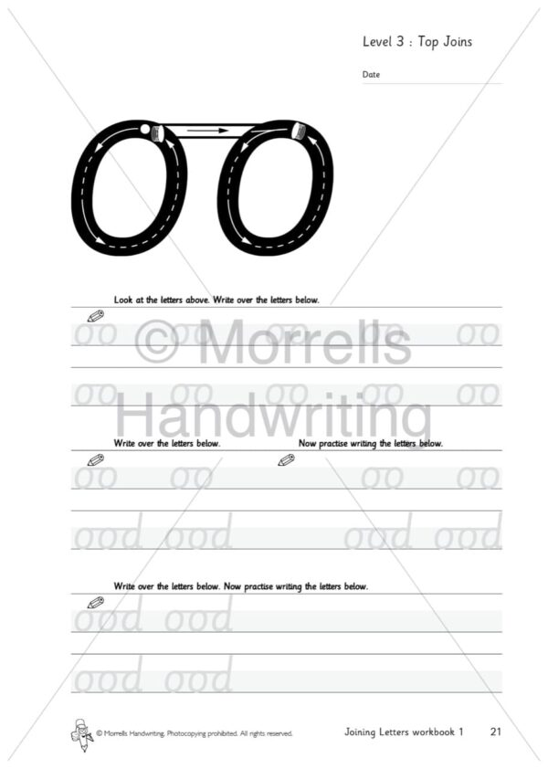 Morrells Joining Morrells Letters workbook 1 inside oo