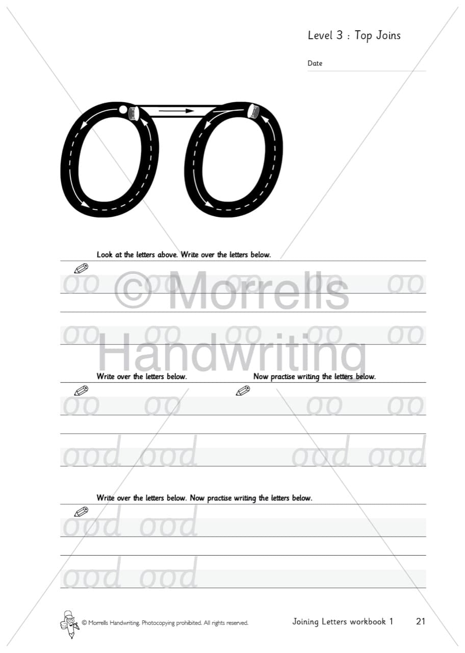Morrells Joining Letters 1 Joins - Morrells Handwriting