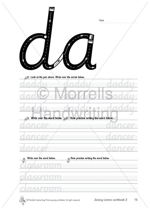 Morrells Joining Morrells Letters workbook 2 inside da
