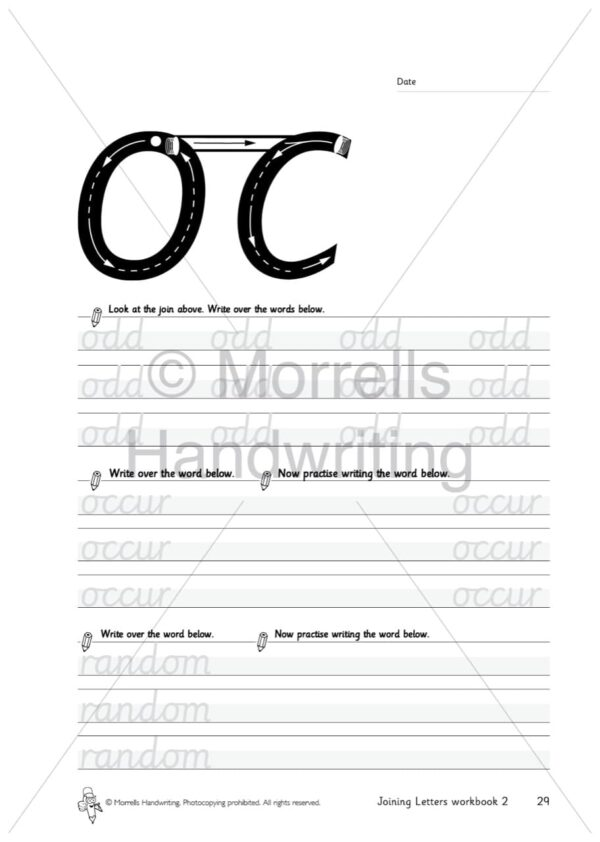 Morrells Joining Morrells Letters workbook 2 inside oc
