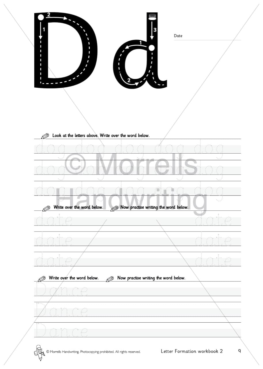 Morrells Letter Formation 2 Words Box Of 50 Morrells Handwriting