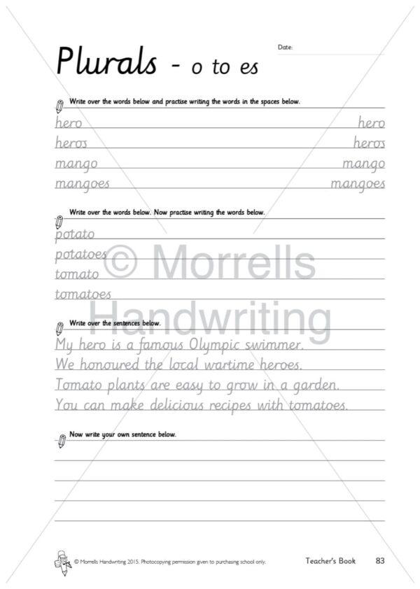 Morrells Teacher's book 1 Plurals