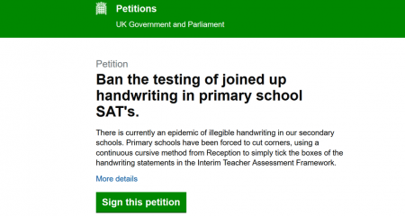 Morrells Handwriting Government Petition