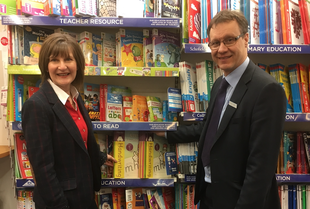 Morrells Handwriting workshop in Isle of Man WHSmith store