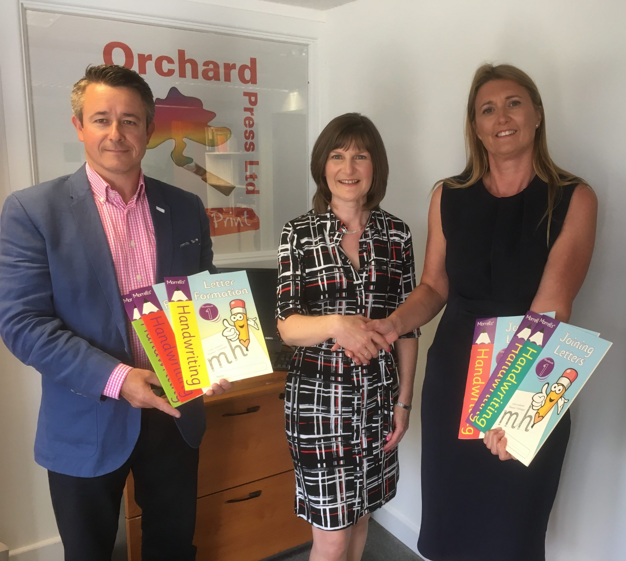 Morrells Handwriting partner with Orchard Press
