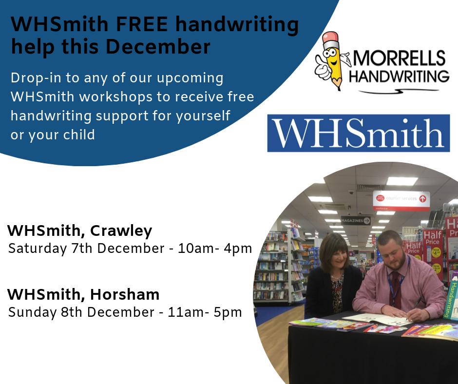WHSmith Handwriting Roadshow December