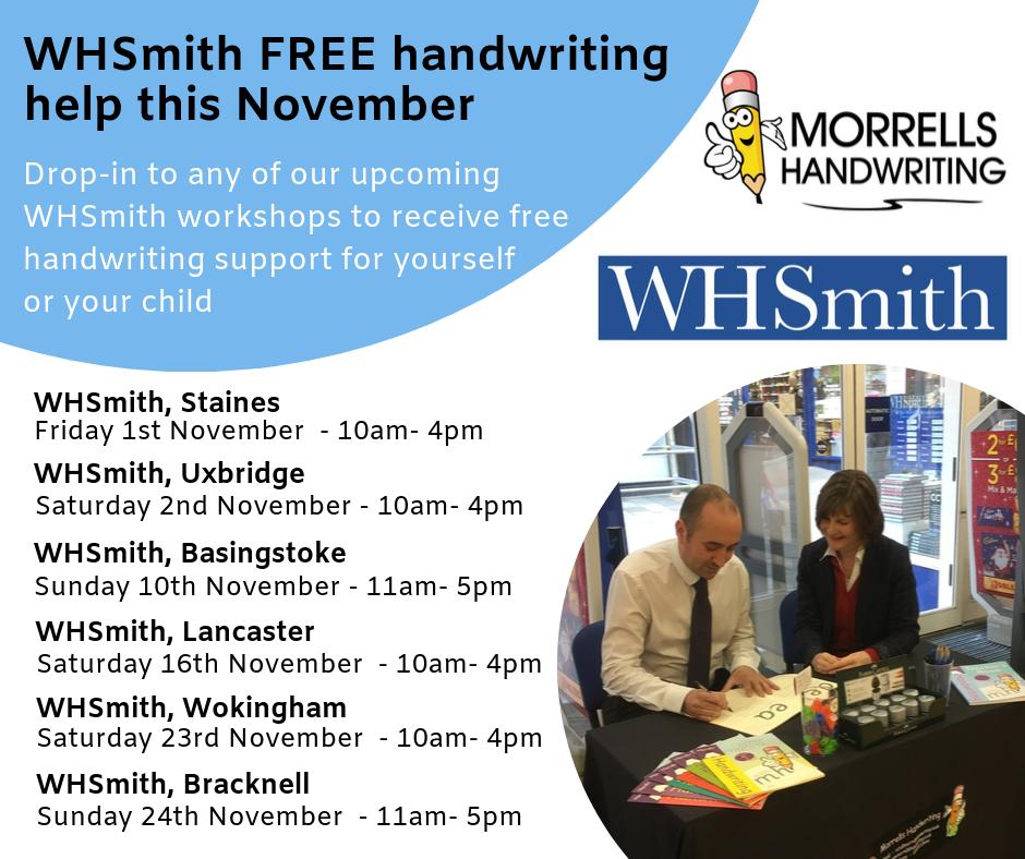 WHSmith Handwriting Roadshow November
