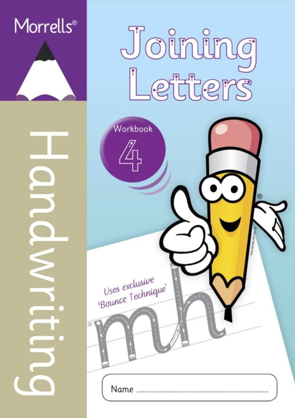 Morrells Joining Letters 4 workbook cover