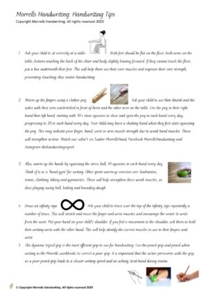 Morrells Handwriting Tips For Parents Free Download 2020 cover