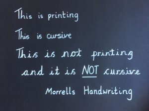 Examples of print and cursive