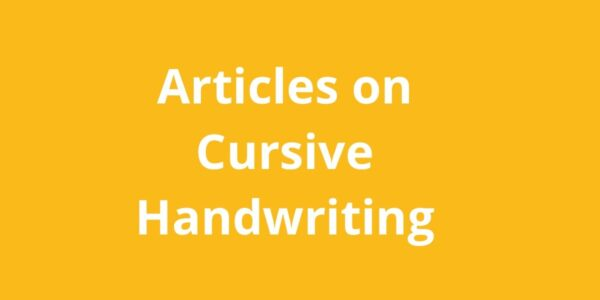 cursive handwriting articles