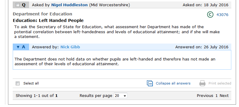 Mark's Blog DfE Statement