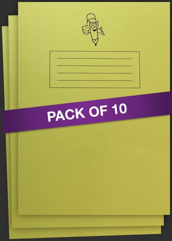 Yellow Book Narrow Lined Handwriting Exercise Book 10 pack