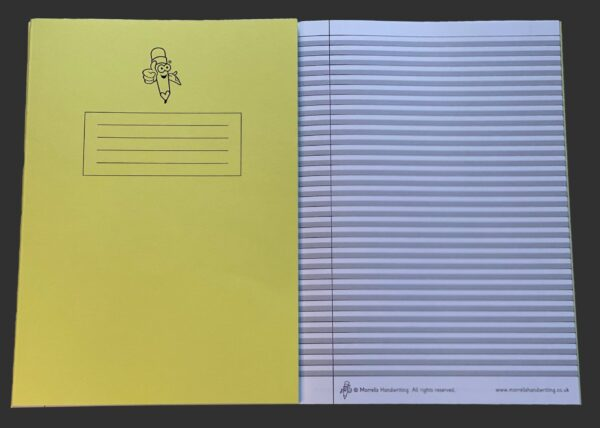 Yellow Book Narrow Lined Handwriting Exercise Book