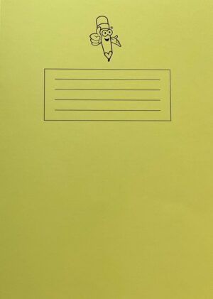 Yellow Book Narrow Lined Handwriting Exercise Book cover alt